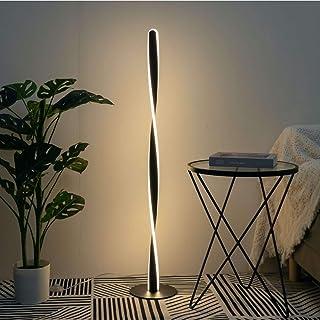 KOSILUM - Lampadaire H120 cm torsade noir LED - Kazan - Lumière Blanc Chaud Eclairage Salon Chambre Cuisine Couloir - 30W...