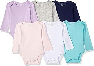 Amazon Essentials Baby-Mädchen 6-Pack Long-Sleeve Bodysuit, 6er-Pack