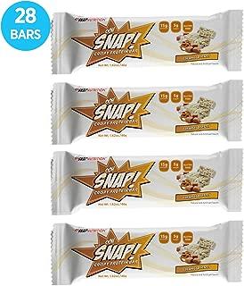Ohh Snap Nutrition Gluten Free Crispy Protein Bar (Bulk 28 Bars) - Healthy Low Sugar Snack - Salted Caramel Pretzel Flavor – 4 Count Box