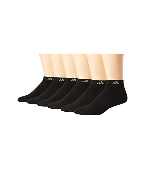 adidas Athletic 6-Pack Low Cut Socks Black/Aluminum 2 Running Socks 8351217