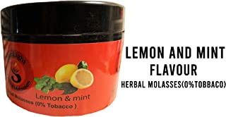 Hookah Flavors by Sunlight Charcoal – Non-Tobacco Hydro Herbal Molasses – 250g Container Hookah Shisha Pipe – Premium Quality Intense Flavor – No Nicotine, No Tobacco (Lemon & Mint)