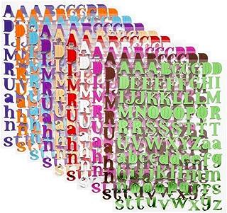 VINFUTUR 10 Colors Letter Autocollantes Stickers Auto-Adhésif A-Z Alphabet Stickers Brillants pour Bricolage Scrapbooking ...