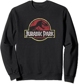 Jurassic Park Classic Retro Red Distressed Logo Sweatshirt