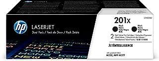 HP 201X | CF400XD | 2 Toner Cartridges | Black | High Yield, High Yield Black