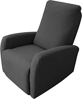 Best Obytex 4 Pieces Stretch Recliner Chair Cover Polyester and Spandex Upgrade Pattern Couch Covers Dog Cat Pet Slipcovers Furniture Protectors,Machine Washable (Recliner, Style2 Grey) Review