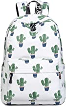 Acmebon Girls Fashion Printed Pattern Backpack Casual Student Backpack Fit 15.6 Laptop Cactus