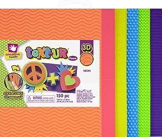 Creative Hands Text-Ur Foam Sheets, Neon, 150 Piece