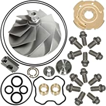 7.3L Turbo Compressor Wheel & Upgraded GTP38 Rebuild Kit For 1994-2003 Ford Powerstroke 446579-0001 170293 By TOPEMAI