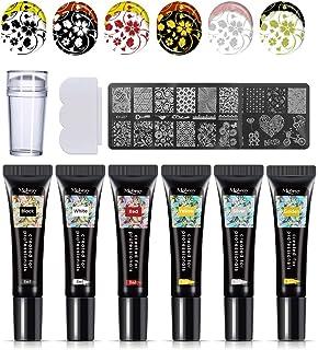 Mobray - Kit de estampación de uñas de 6 colores para manicura. Pintauñas de 8ml