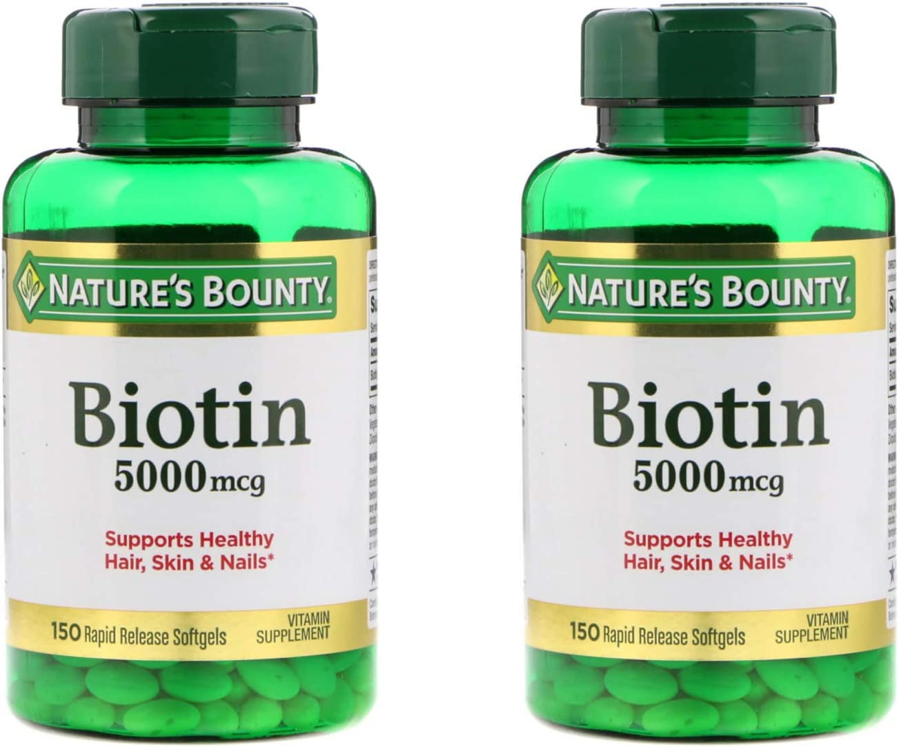 Nature's Bounty Biotin Softgels 5000 mcg Popular shop is the lowest price challenge 2 of 150 Pack low-pricing ea