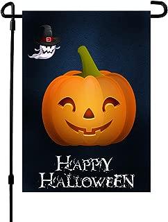 Halloween Garden Flag, Halloween Decoration Pumpkin Yard Garden Flag Double-Sided 12.5 x 18 Inch