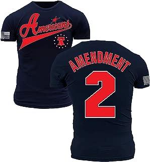 Team America Second Amendment Patriots League Navy Blue and Red Premium Athletic Fit T-Shirt