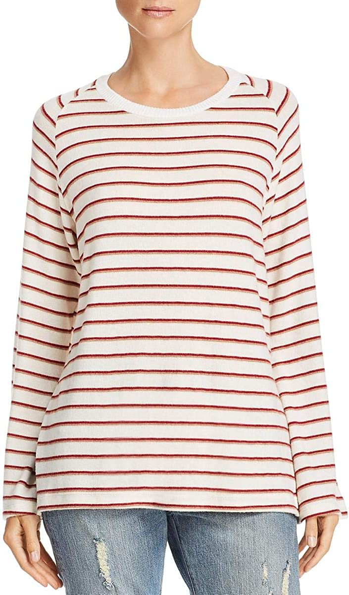 LNA Clothing Womens Striped Bell Sleeves Pullover Sweater