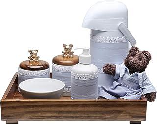 Kit Higiene Toys Escuro Urso, Potinho de Mel, Azul