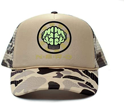 bf541189 NERD Unisex-Adult One-size Flat Bill Trucker Hat Multi (White/Camo