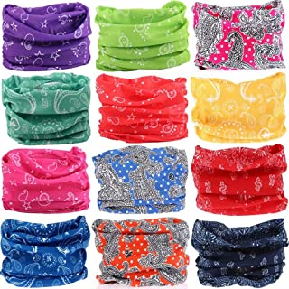 6PCS/8PCS/9PCS/12PCS Seamless Headband camo Bandanas Headwear for Men&Women Neckwarmer Scarf 16-in-1 Multifunctional for Music Festivals Raves Neck Gaiter Magic Scarf Fishing Mask