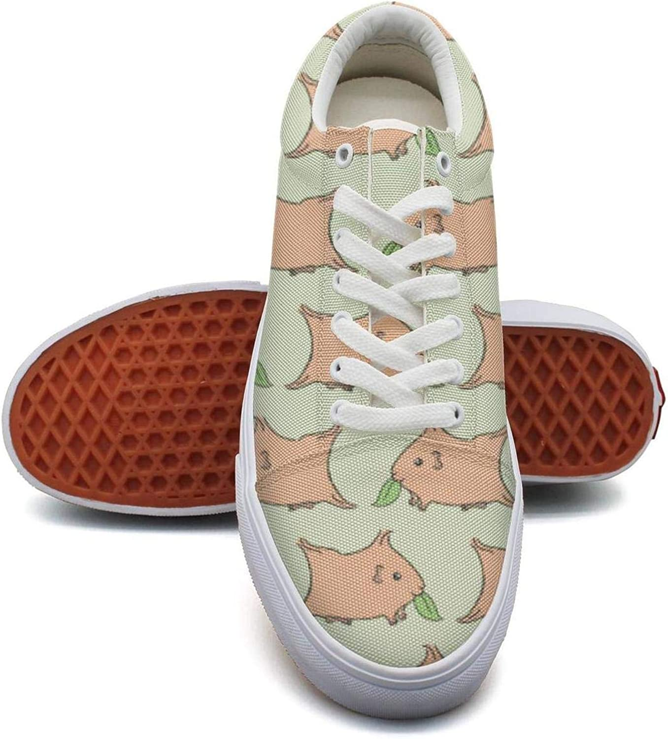 SXGANG Women's Guinea Pig Printed Lace-up Canvas shoes