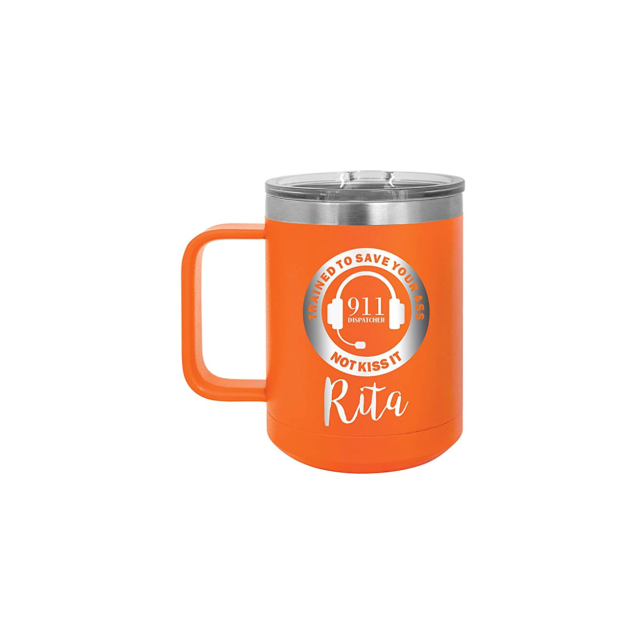 911 Dispatcher Telecommunications Personalized 15 oz Insulated Coffee Mug
