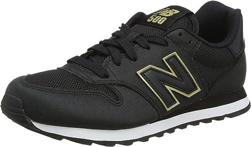 New Balance 500, Scarpe Sportive Donna, Nero (Black/Gold), 38 EU ...