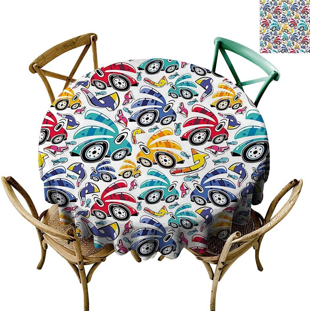 Modern Unique Design Table clothVintage Cartoon Ranking TOP18 Manufacturer regenerated product Rainbow Vi Style