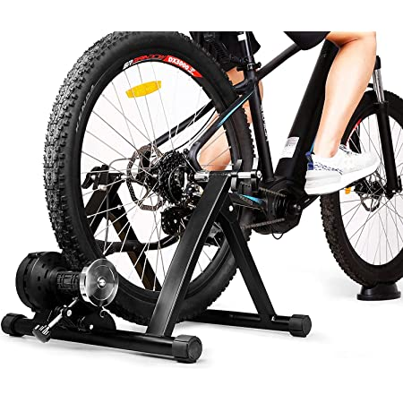 INTEY Rodillo Bicicleta Plegable, Rodillo Magnético de Ciclismo con 6 Niveles de Resistencia, Adecuado para 24 a 28 Pulgadas, Bicicletas 700c o ...