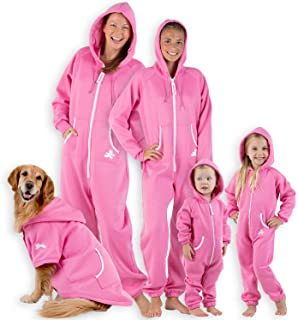 Joggies - Family Matching Rose Pink Hoodie Onesies for Boys, Girls, Men, Women and Pets