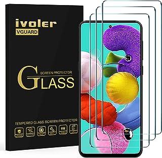 ivoler 3-pack skärmskydd för Samsung Galaxy A51 5G/Samsung Galaxy A51 4G, härdat glasfilm [Anti-repa] [bubbelfri] [Kristal...