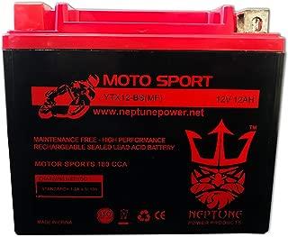 YTX12-BS High Performance Battery for Suzuki VZ800 Marauder 97-08 by Neptune