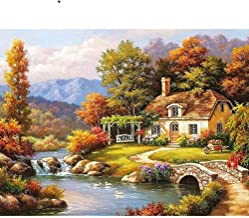 DIY Painting By Numbers Landscape Picture By Numbers Handpainted Oil Painting Unique Gift For Home Decors(40 * 50) (4)