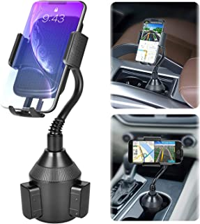Car Cup Holder Phone Mount,Universal Smart Phone Adjustable Automobile Cell Phone Mount for iPhone 11 pro/Xs/Max/X/XR/8/7 Plus Samsung Galaxy S10/S9/S8 Note 9 Sony、HTC、Huawei and Smartphones