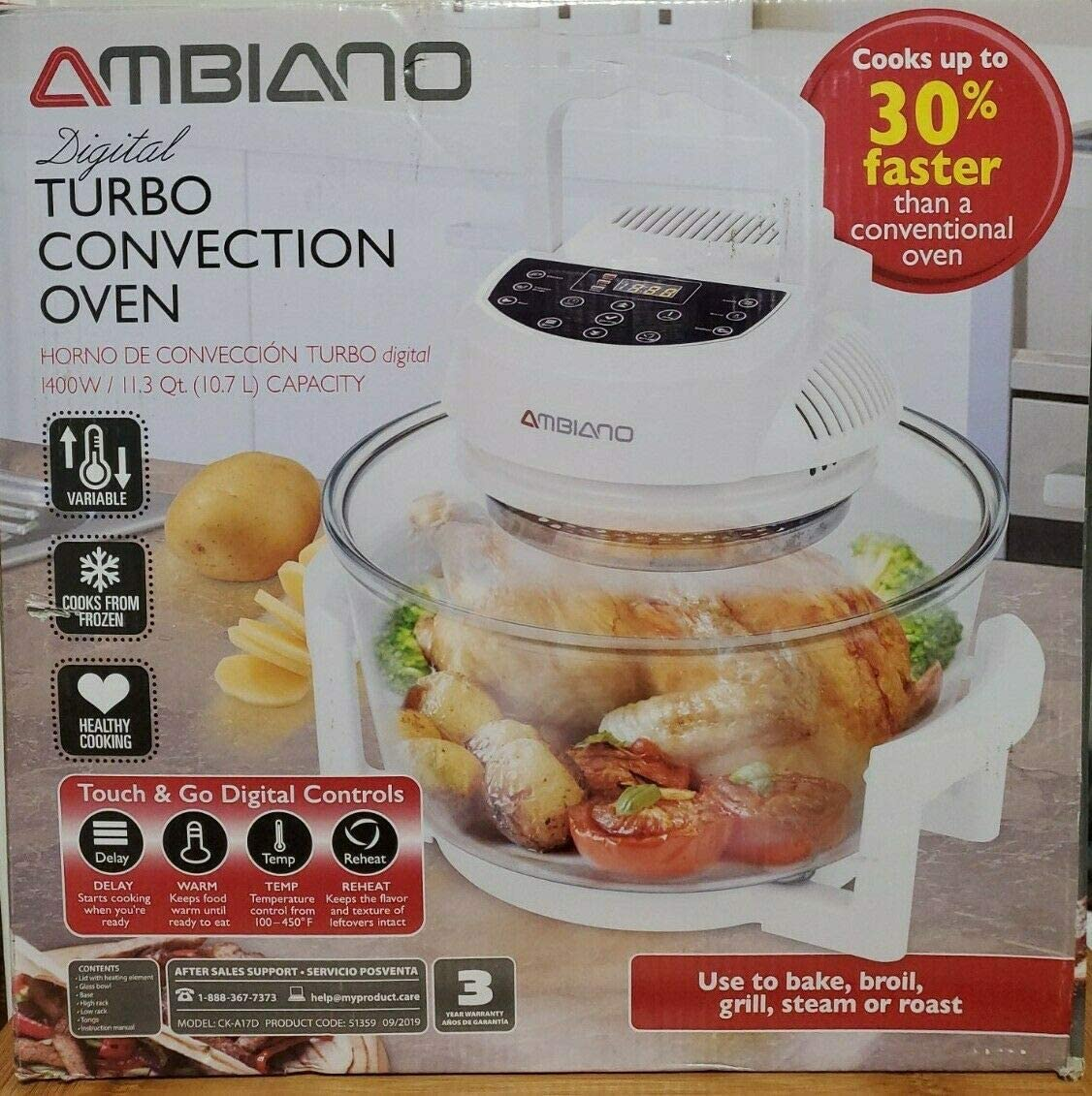 Ambiano Turbo low-pricing Convection Oven Clearance SALE Limited time CK-A17D