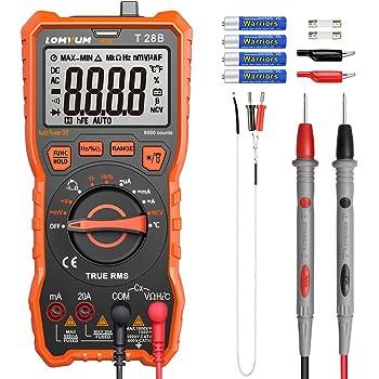 Handheld Minitasche DMM Digital-Multimeter 1999 zählt AC//DC Voltmeter Amper