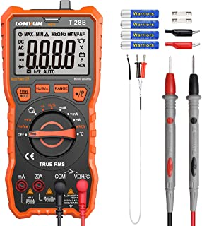 LOMVUM Digital Multimeter, 6000 Counts Auto-Ranging Voltage Tester Meter with Ohm Volt..
