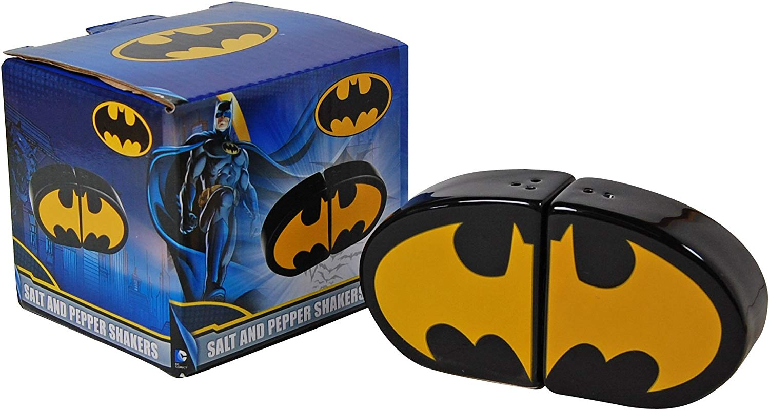 Dc Comics Batman Salt And Pepper Shaker Black