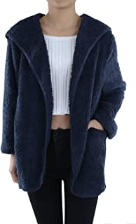 Lounge & Chill Hooded Fluffy Fleece Comfy Soft Teddy Coat Jacket