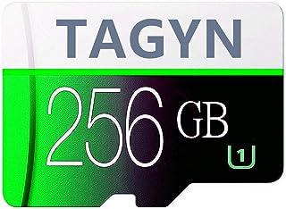 TAGYN マイクロSDメモリーカード 256GB 超高速Class10 + SDカードアダプ (J2F-A6R) (256gb)