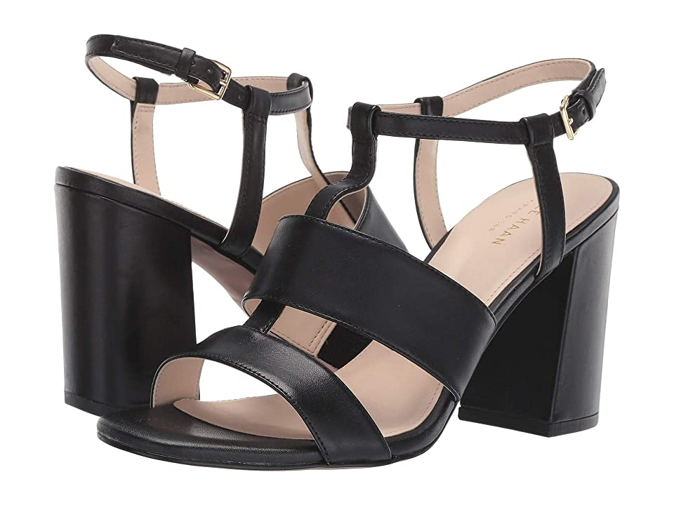 Cole Haan Cherie Grand Block Sandal (Black Leather) Women