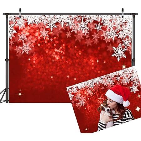 Lywygg 2 X 1 5 M Weihnachts Hintergrund Rot Bokeh Kamera
