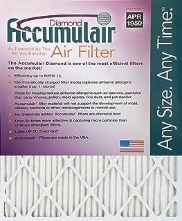 Accumulair Diamond 17x22x1 (16.5x21.5) MERV 13 Air Filter/Furnace Filters (6 pack)
