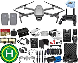 $1888 » DJI Mavic 2 Pro 2 Battery (Total) MEGA Accessory Bundle with Aluminum Case, Drone Vest, 32GB Micro SD, VR Goggles, Charging Hub, Filter Kit, Landing Pad + Much More