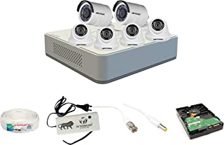 Sia Technology Hikvision 8 Channel HD DVR and 4 Dome 2 Bullet Camera HD Combo kit, Include All Require Accessories for 6 C...