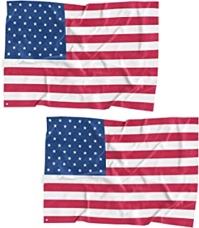 LOOKSEVEN American USA US Flag 3x5 Ft Quality Polyester Printed Stars Stripe United States Flag (2 Pack)