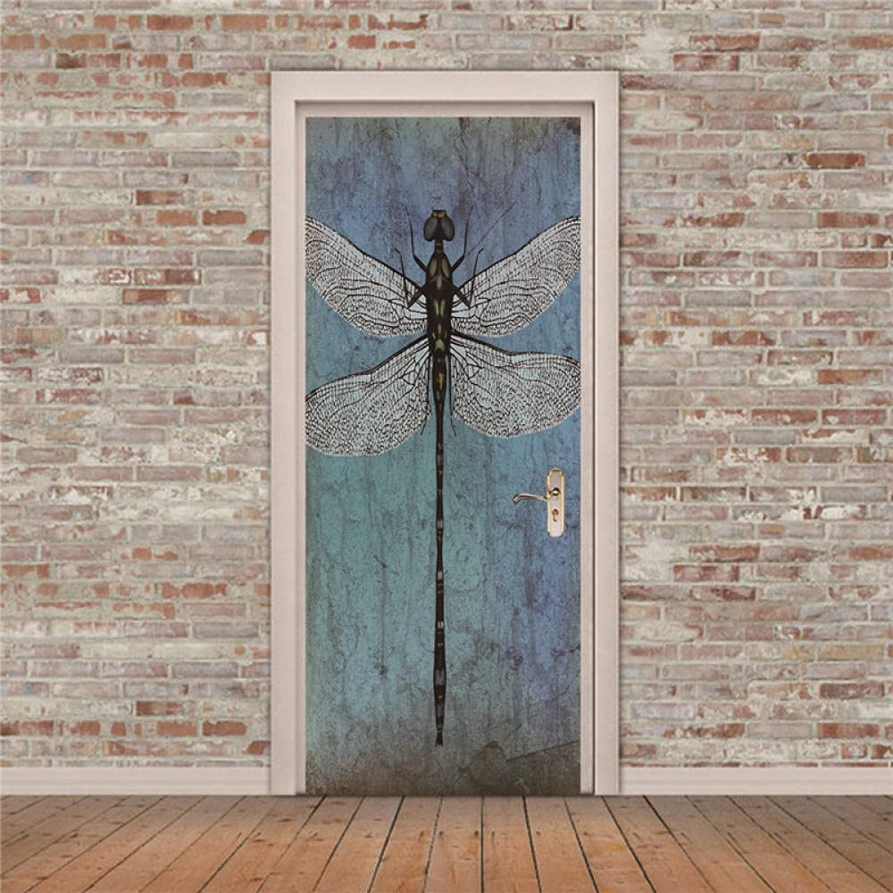 Door Stickers Dragonfly Insect Popular Bat Limited time trial price Waterproof Self Adhesive