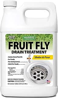 Harris Fruit Fly and Drain Fly Killer, 128oz Treatment for Drains