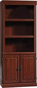 Sauder Heritage Hill Library With Doors, Classic Cherry finish