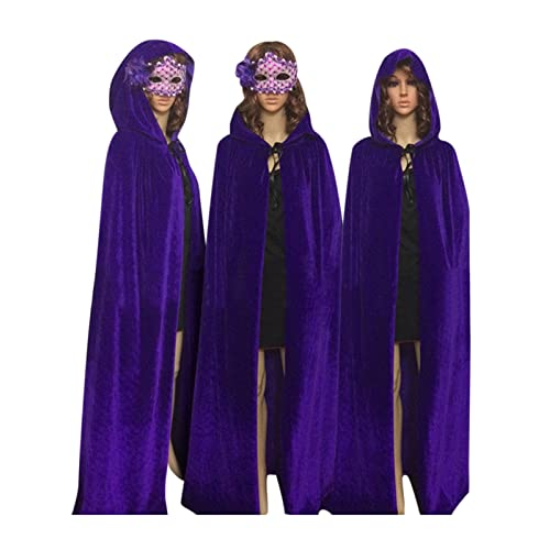 Ecity Unisex Adult Women/Men Hooded Cloak Role Play Costume Cosplay Christmas Cape