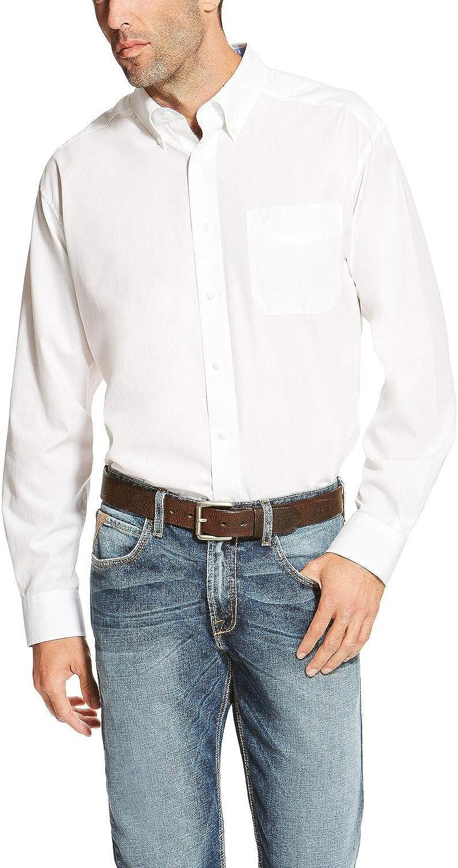ARIAT Men's Blue Wrinkle Free Button Long Sleeve Western Shirt Big