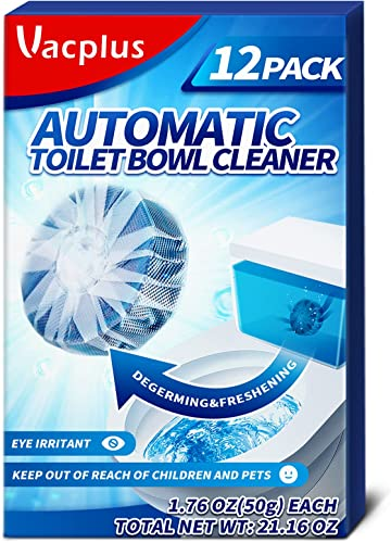 wholesale Vacplus Toilet Bowl Cleaner Tablets 12 Pcs - Automatic Toilet Bowl Cleaners for Descaling & Deodorizing, Septic-Tank Friendly Toilet Bowl new arrival sale Cleaners with Slow-Dissolving Design outlet online sale