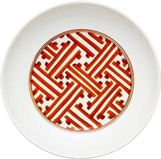 まるぶん 中皿 ホワイト 直径14cm 有田焼 李荘窯 4.5寸皿 錦地紋 95578