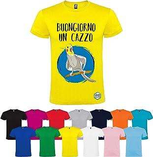 T-shirt personalizzata BUONGIORNO UN CAZZO diversi colori disponibili